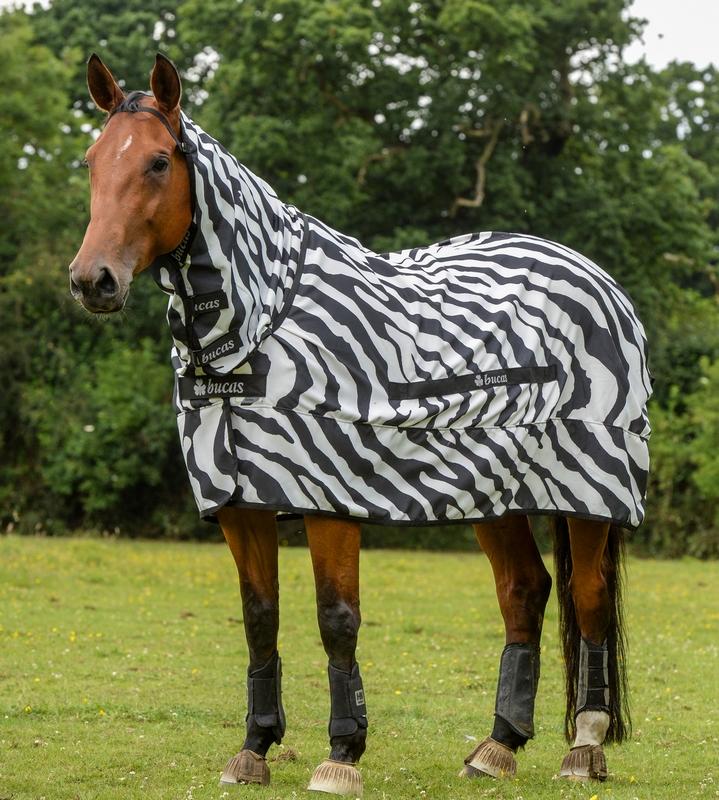 Bucas Sweet Itch Zebra Rug Horse And