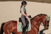 Equestrian Stockholm Sportive Top Pistachio white