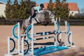 Equestrian Stockholm Saddlepad Jumping Ice Blue