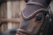 Kentucky Horsewear Flyveil Long Stone & Pearl Soundless